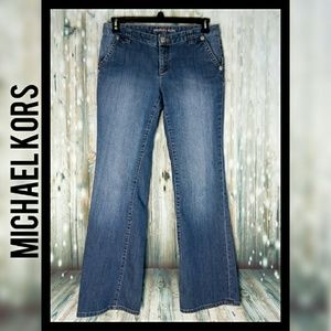 Michael kors boot cut light wash denim jeans